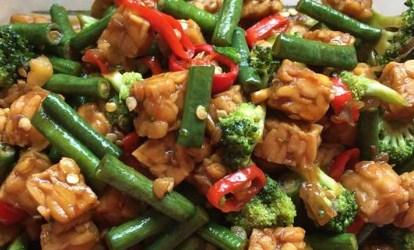 Tumis Kacang Panjang Tempe Brokoli